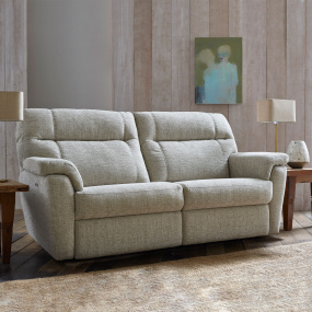 Watson Grey Fabric 2 Seater Electric Recliner Sofa