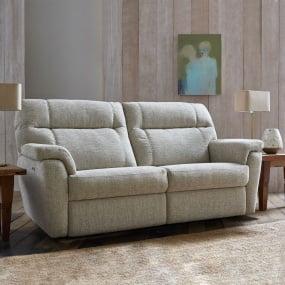 Watson Grey Fabric 2 Seater Electric Recliner Sofa