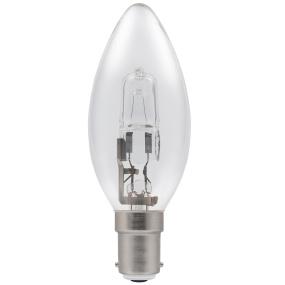 Crompton Halogen Candle Clear SBC B15 28W Bulb