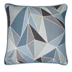 Malini Fragments Blue Cushion