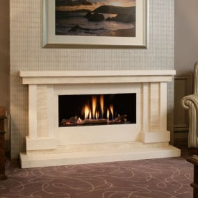 HU Home Strego Limestone and Travertine Fire Surround