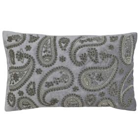 Riva Paoletti Cochin Boudoir Cushion in Silver