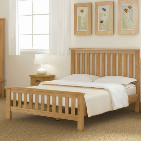 Dorset Light Oak Bed Frame Collection