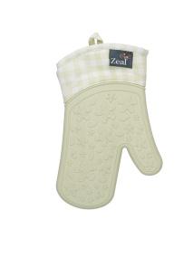 Zeal Single Gingham Oven Glove in Cream