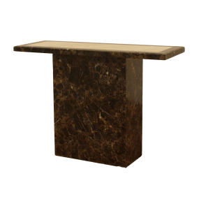 Florentina Brown and Cream Marble Console Table