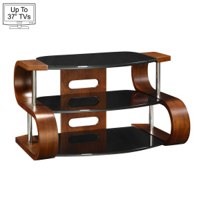 "Jual JF203 85cm Curve Walnut TV Stand for up to 37"" TVs"