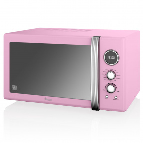 Swan Retro Pink 900W Digital Combi Microwave with Grill