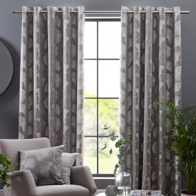 "Belfield Gingko Steeple Grey 66"" x 54"" Curtains"