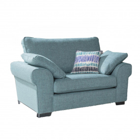 Charlbury Light Blue Fabric Snuggler Armchair