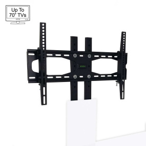 "Invictus White Bracket TV Stand for up to 70"" TVs"