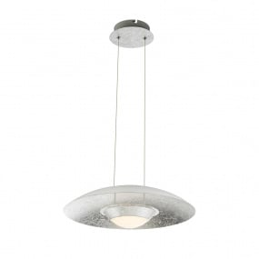 Globo Atna Silver Leaf LED Pendant Light