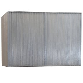Silk String 14 Inch Silver Rectangular Lamp Shade