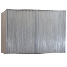 Silk String 14 Inch Silver Rectangular Lamp Shade