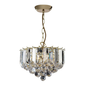 Fargo Brass 3 Light Small Pendant Light
