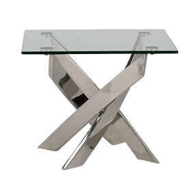 Strego Square Glass Side Table - Front | Housing Units