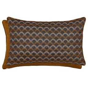 Peacock Blue Farrah Soller Blackened Bronze Cushion