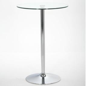 Titan Glass and Chrome Bar Table