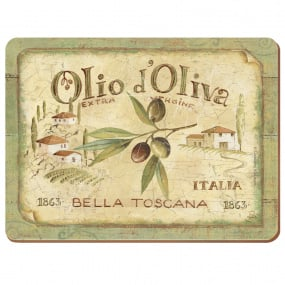 Premium Olio D'Oliva Set of 6 Placemats