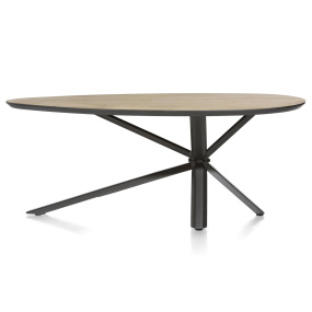 Sonata Oval 200cm Dining Table Front View