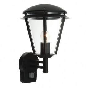 Inova PIR Black 1 Light Outdoor Wall Light