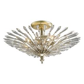 Diyas Fay Gold 3 Light Semi Flush Ceiling Light