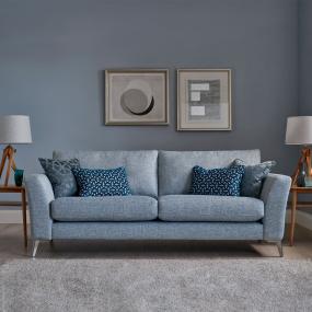 3 Seater Sofa in Domaso Fabric