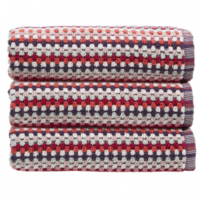 Christy Carnaby Stripe Berry Bath Towel