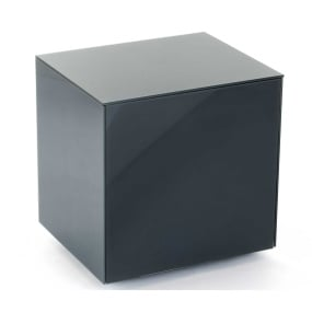 Invictus Grey High Gloss Lamp Table