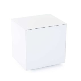 Invictus White High Gloss Lamp Table