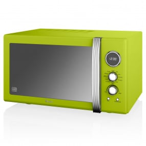 Swan Retro Lime Green 900W Digital Combi Microwave with Grill