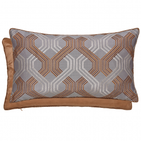 A beautifully luxurious bronze cushion from Peacock Blue