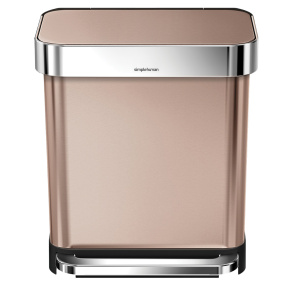 Simplehuman 30 Litre Rose Gold Pedal Bin with Liner Pocket