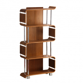 Jual BS201 Curve Walnut Bookcase
