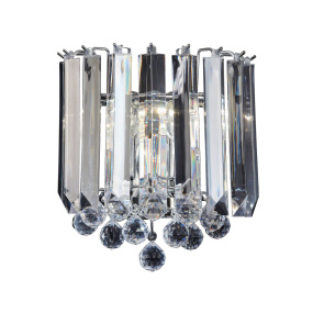 Fargo Chrome 2 Light Wall Light