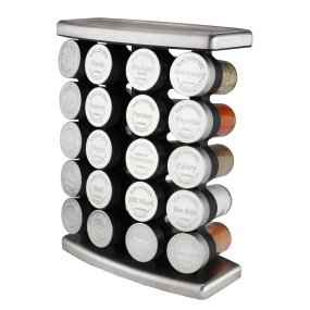 Olde Thompson Stainless Steel 20 Jar Spice Rack