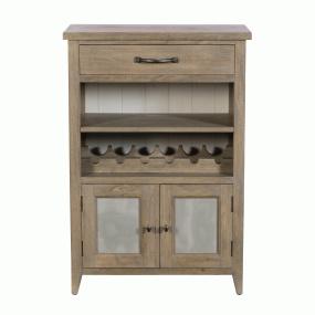 Milton Small Mango Wood Wine Cabinet