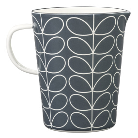 Orla Kiely Linear Stem Slate Grey Enamel Large Measuring Jug