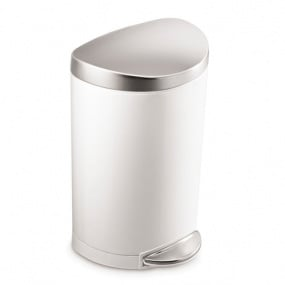 Simplehuman 10 Litre White Space Saving Bin