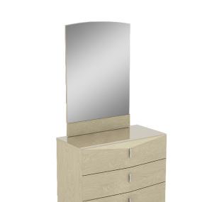 Panama High Glass Light Walnut Mirror