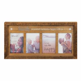 """Wooden Family Multi Aperture Frame 4"""" x 6"""""""