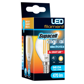 Supacell SES E14 4W Golf LED Filament Clear Light Bulb