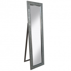 Silver Mosaic Cheval Mirror