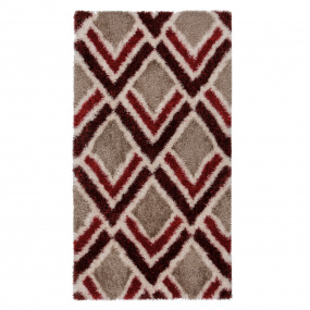 Velvet Bijoux Red & Brown 120cm x 170cm Rug