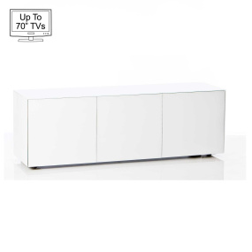 "Invictus White TV Stand for up to 70"" TVs"