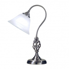 HU Home Barley Satin Chrome Swan Table Lamp