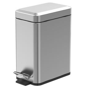 Showerdrape Cube 5 Litre Satin Chrome Pedal Bin