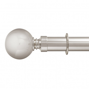 Kestrel Oxford Polished Steel 300cm Curtain Pole