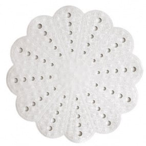 Petal White Shower Mat