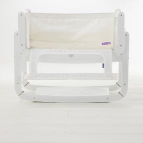 SnüzPod® Bedside Crib in White with Mattress