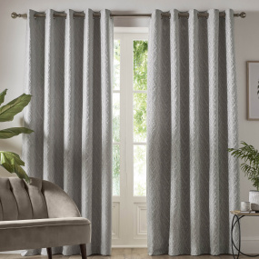 Vittata Silver 66x72 Curtains